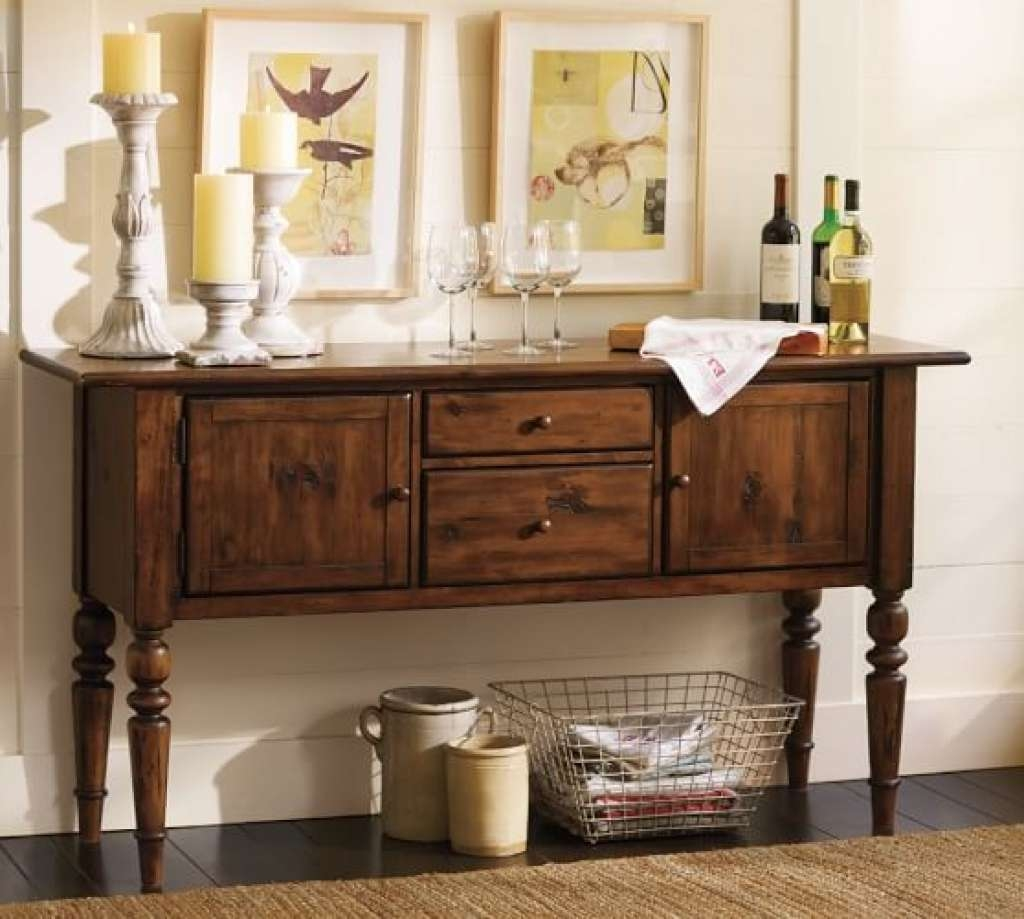 Sideboard Tivoli Buffet Tuscan Chestnut Stain | Pottery Barn For Throughout Pottery Barn Sideboards (View 17 of 20)