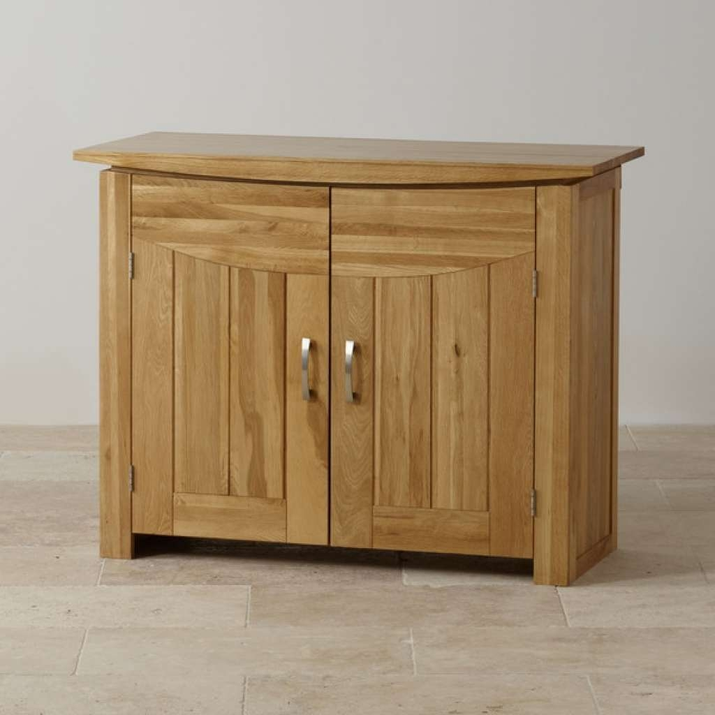Sideboard Tokyo Small Sideboard In Natural Solid Oak | Oak Pertaining To Slim Oak Sideboards (View 15 of 20)