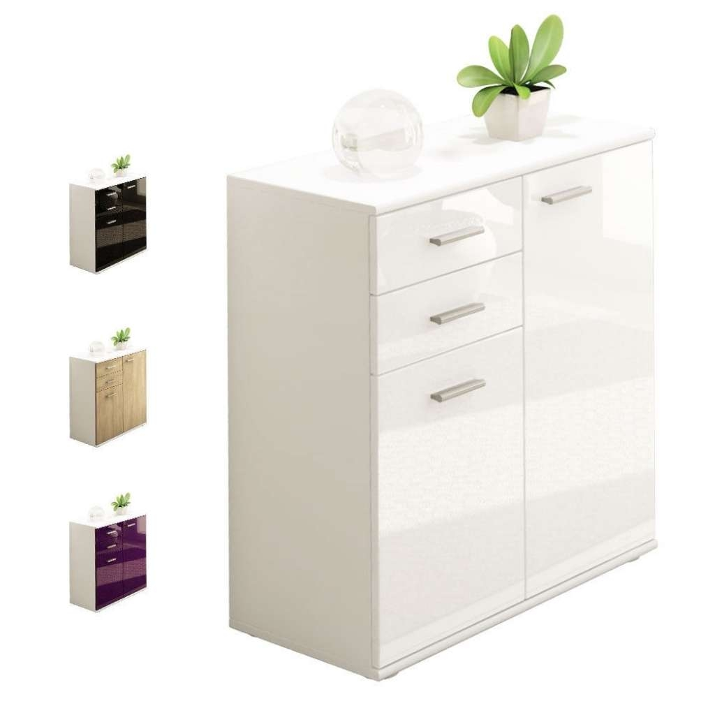 Sideboard White Gloss Bedroom Furniture | Ebay Inside High Gloss Inside High Gloss Cream Sideboards (View 11 of 20)