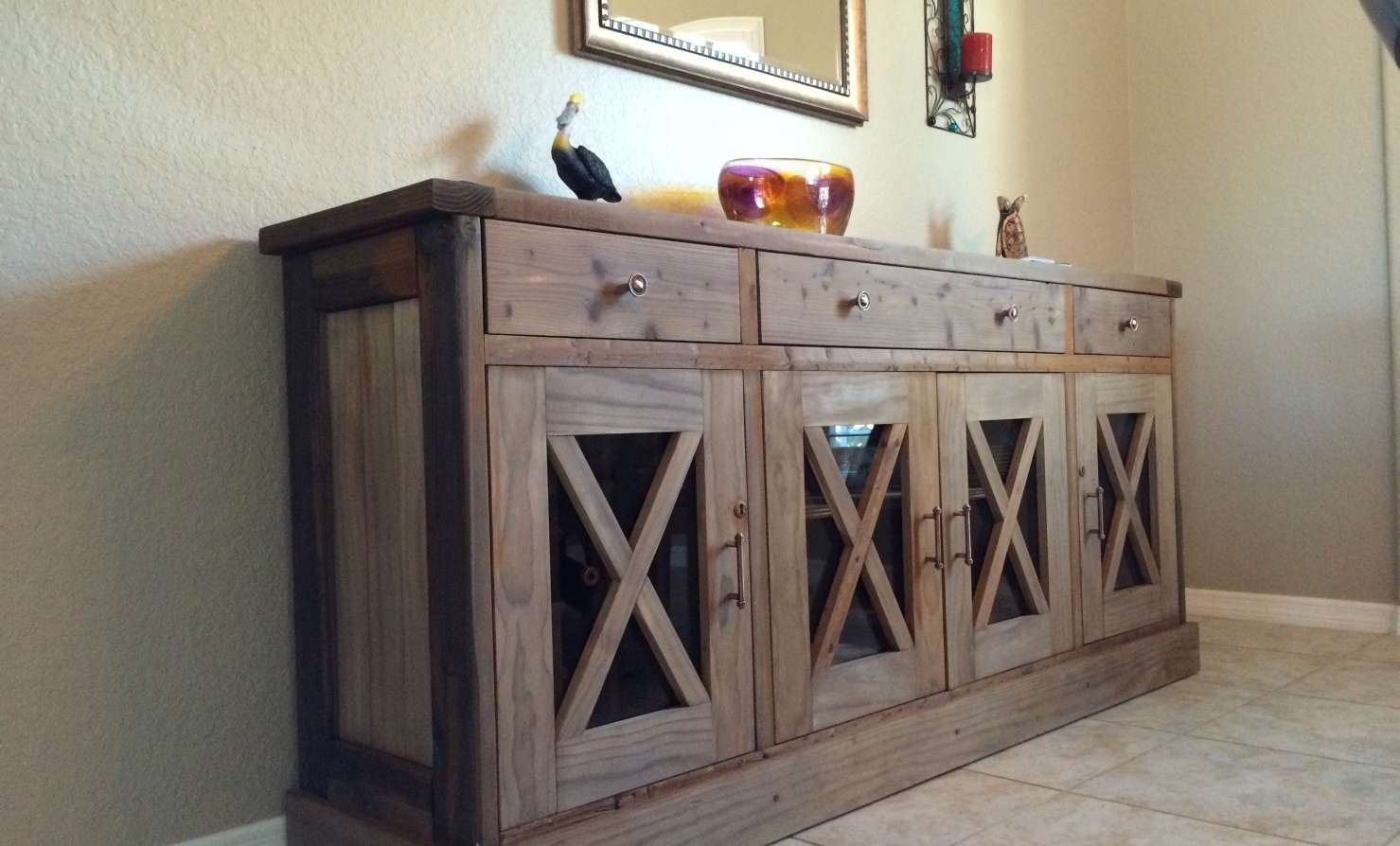Sideboard : White Sideboard Buffet Cabinet Server Furniture Living Intended For White Wood Sideboards (View 12 of 20)