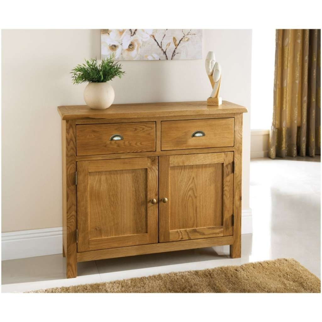 Sideboard Wiltshire 2 Door 2 Drawer Oak Sideboard | Furniture B&m Intended For Slim Oak Sideboards (View 16 of 20)