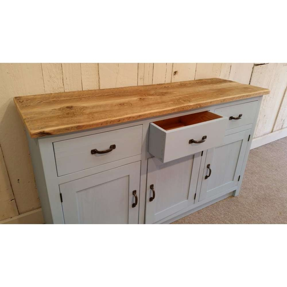 Sideboard With Rustic Top Pertaining To Painted Sideboards (View 12 of 20)