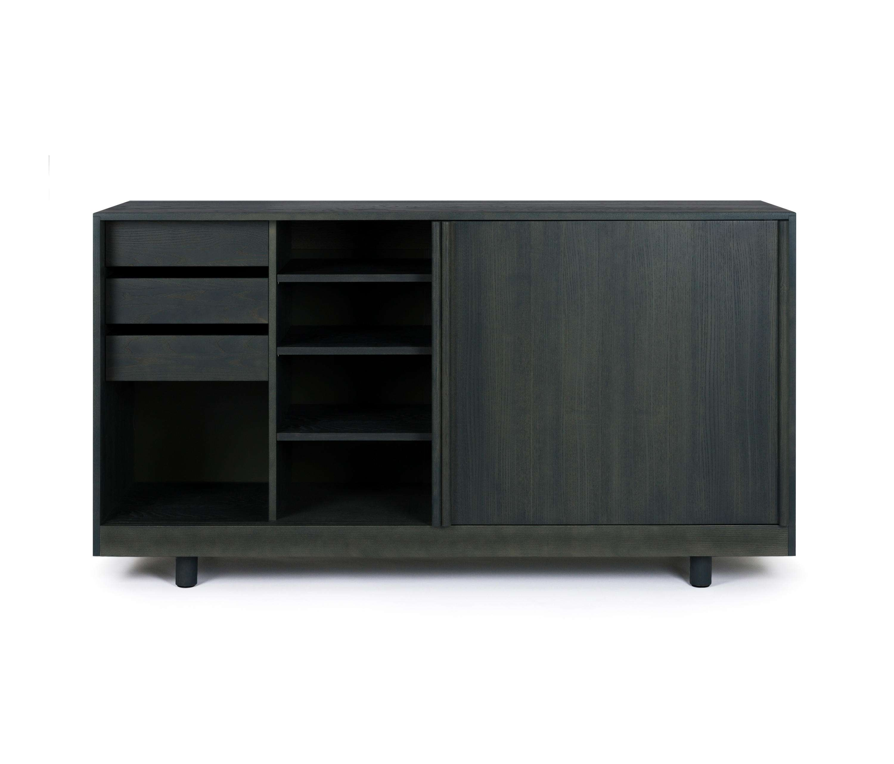 Sideboard With Sliding Doors Forest Green – Sideboards From Throughout Green Sideboards (View 11 of 20)