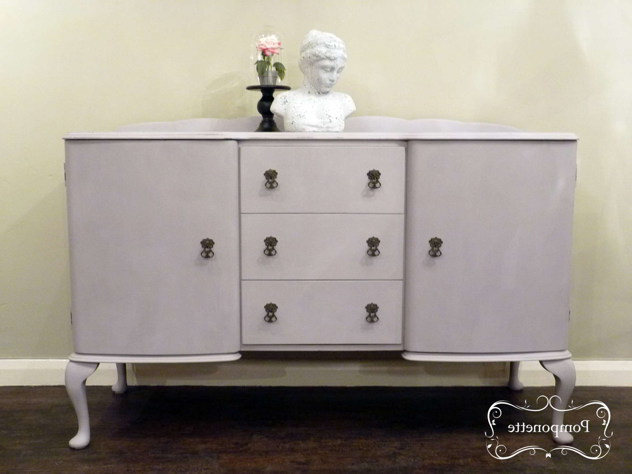 Sideboardpomponette|vintage Painted Furniture Regarding Chalk Painted Sideboards (View 17 of 20)