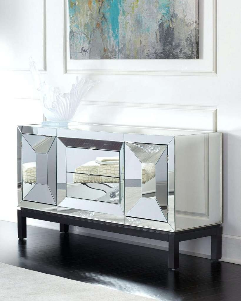 Sideboards: Amazing Mirrored Buffet Mirrored Sideboard Furniture Within Mirrored Buffet Sideboards (View 16 of 20)