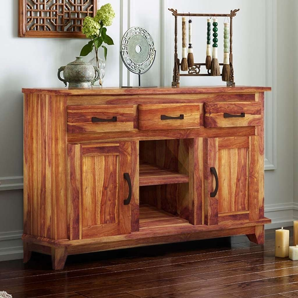 Sideboards: Amusing Solid Wood Buffet Oak Buffet Server Sideboard Pertaining To Solid Wood Sideboards (View 19 of 20)