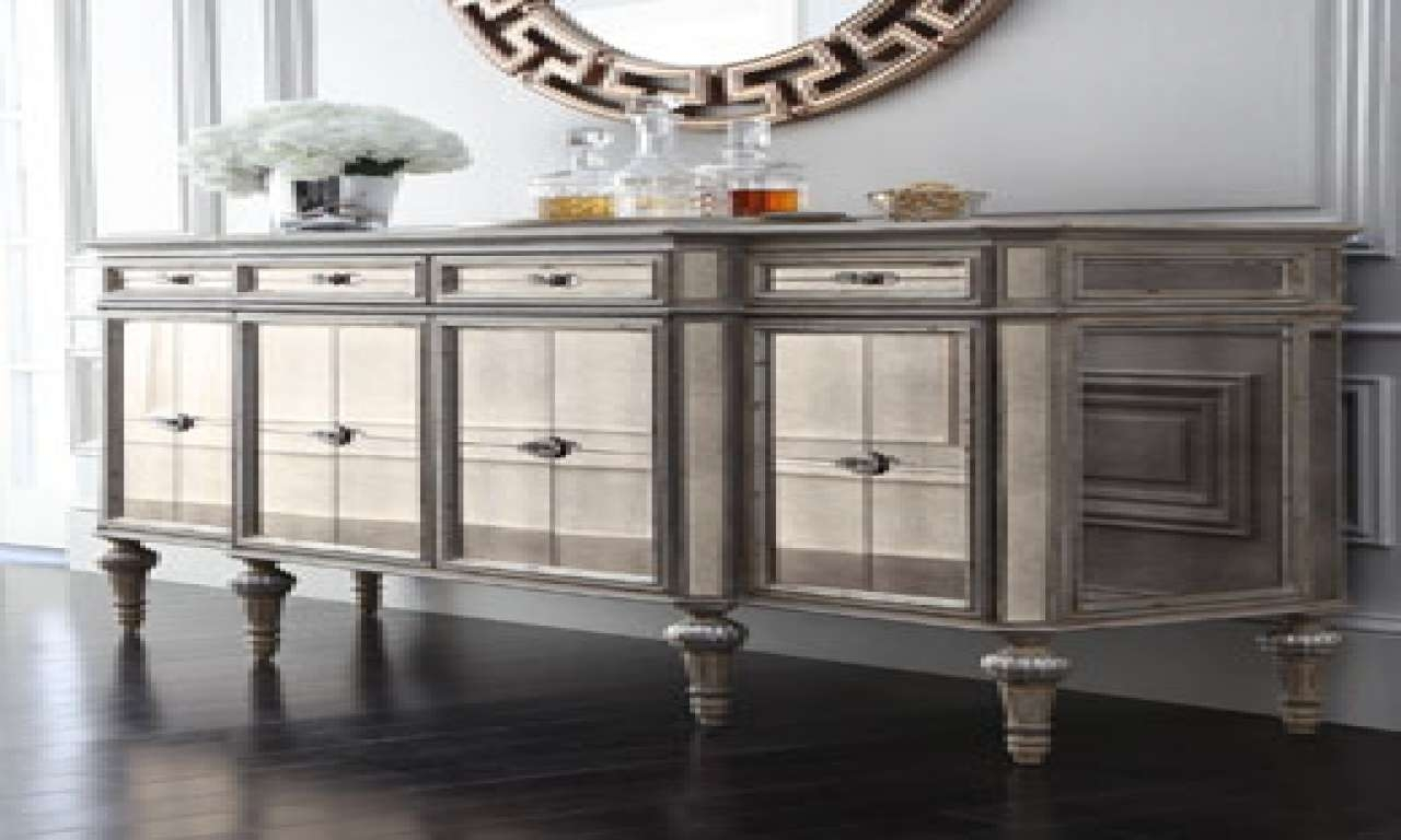 Sideboards Astonishing Mirrored Buffet — New Home Design Within Mirror Sideboards (View 16 of 20)