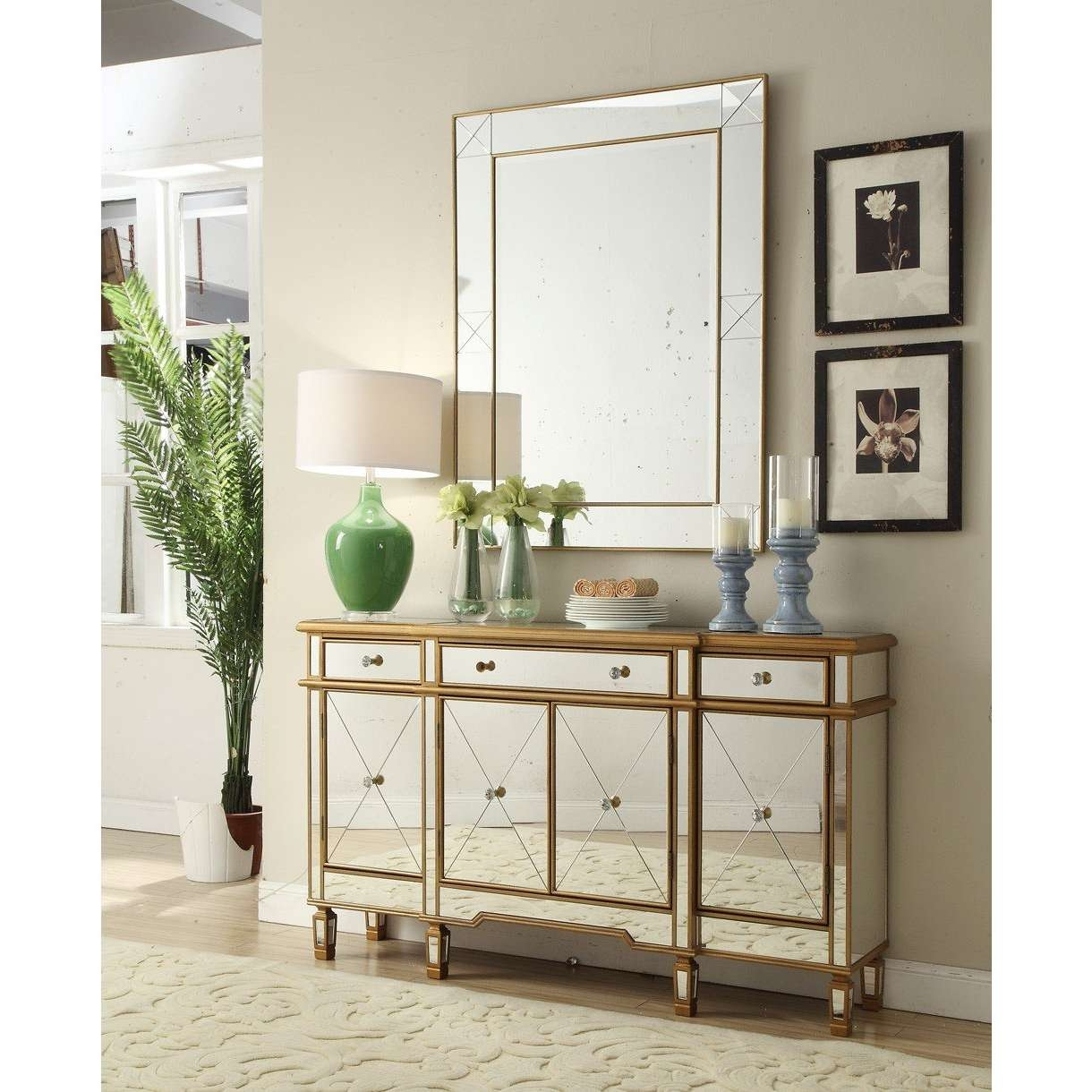 Sideboards: Astonishing Sideboard And Mirror White Mirrored Throughout Small Mirrored Sideboards (View 4 of 20)