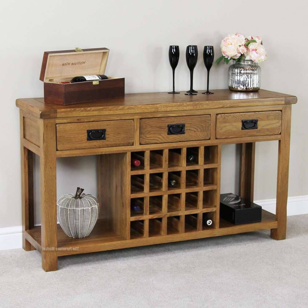 Sideboards: Astounding Buffet Table With Wine Rack Rustic Pertaining To Wine Sideboards (View 10 of 20)