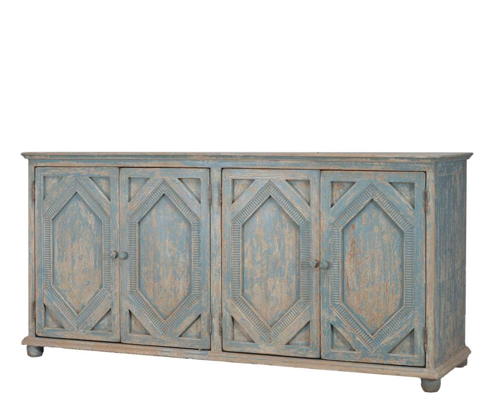 Sideboards: Astounding Distressed Sideboard Painted Sideboard For Within Distressed Buffet Sideboards (View 18 of 20)