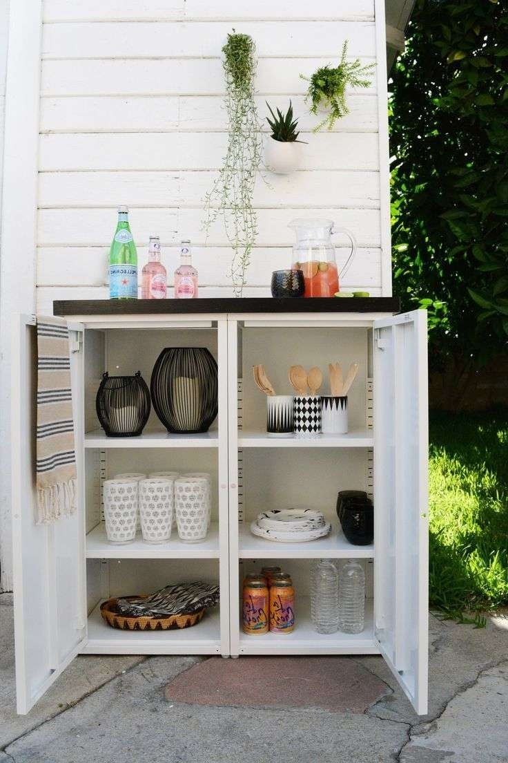 Sideboards: Astounding Outdoor Buffet Table With Cabinets Outdoor Within Outdoor Sideboards Cabinets (View 15 of 20)
