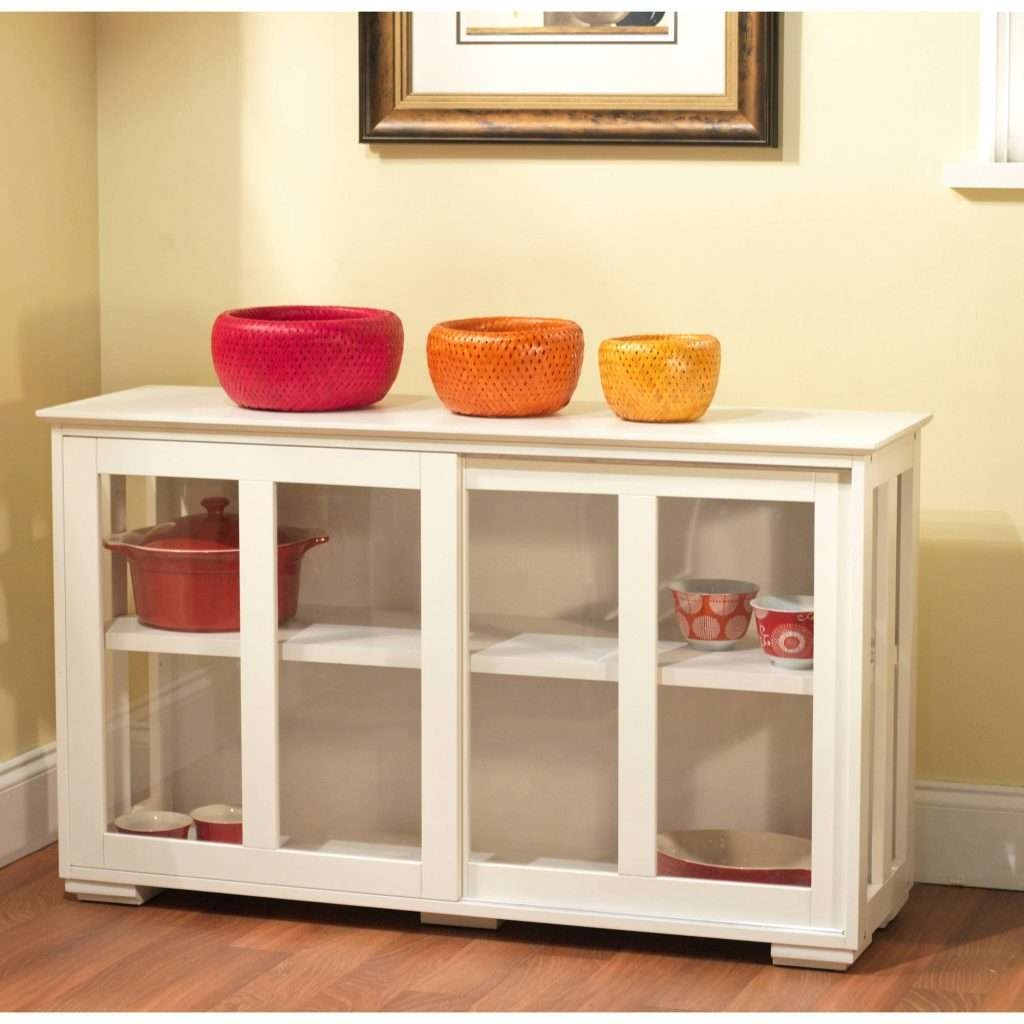 Sideboards Astounding White Hutch With Glass Doors White Hutch Regarding Sideboards With Glass Doors And Drawers (View 11 of 20)