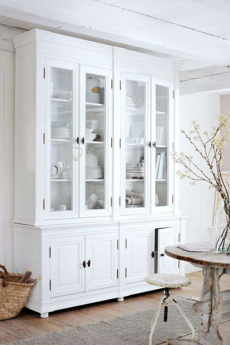 Sideboards Astounding White Hutch With Glass Doors White Hutch Throughout White Sideboards With Glass Doors (View 16 of 20)