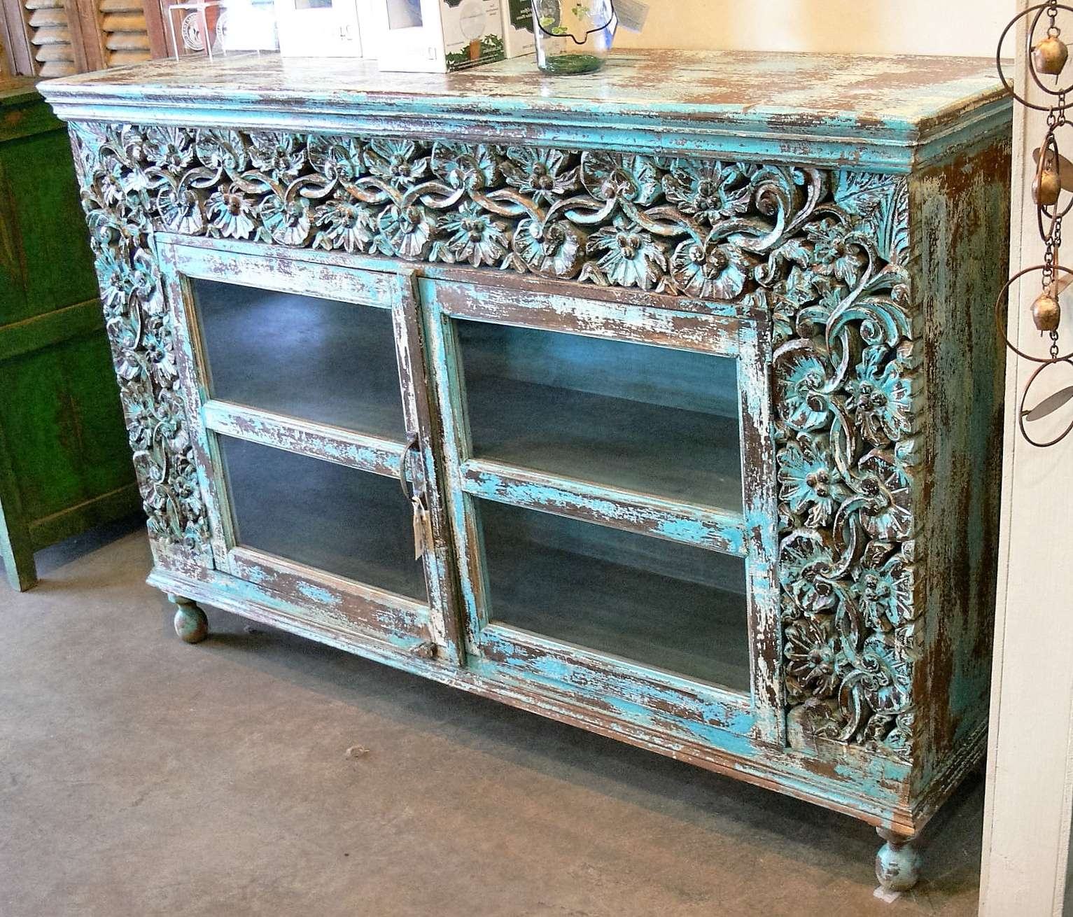 Sideboards & Buffets » Market Imports – Home, Patio, Antiques With Turquoise Sideboards (View 5 of 20)