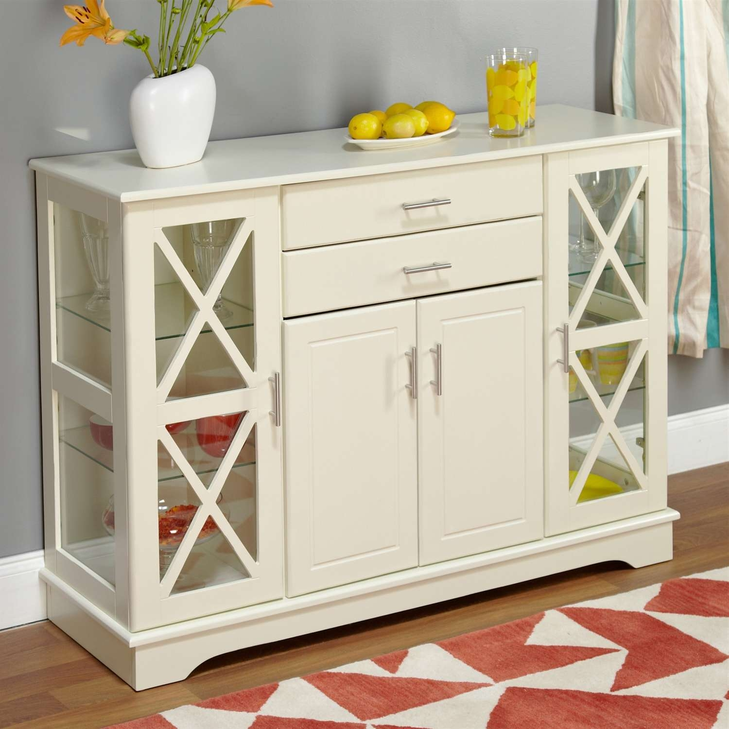 Sideboards & Buffets With White Sideboards With Glass Doors (View 15 of 20)