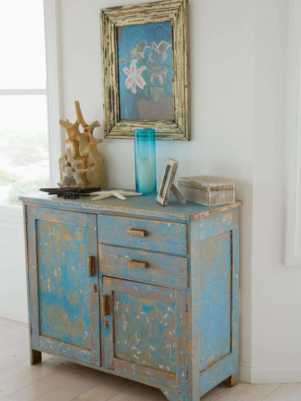 Sideboards: Extraordinary Distressed Wood Sideboard Whitewash Regarding Blue Sideboards (View 16 of 20)