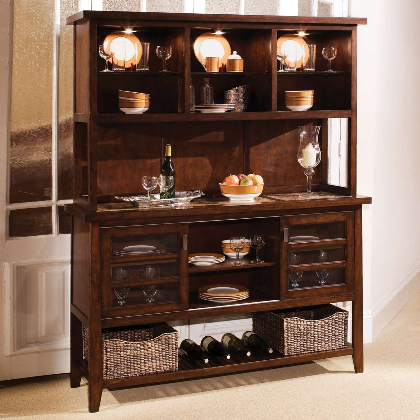Sideboards: Extraordinary Kitchen Sideboards And Buffets Buffet Intended For Sideboards And Hutches (View 3 of 20)
