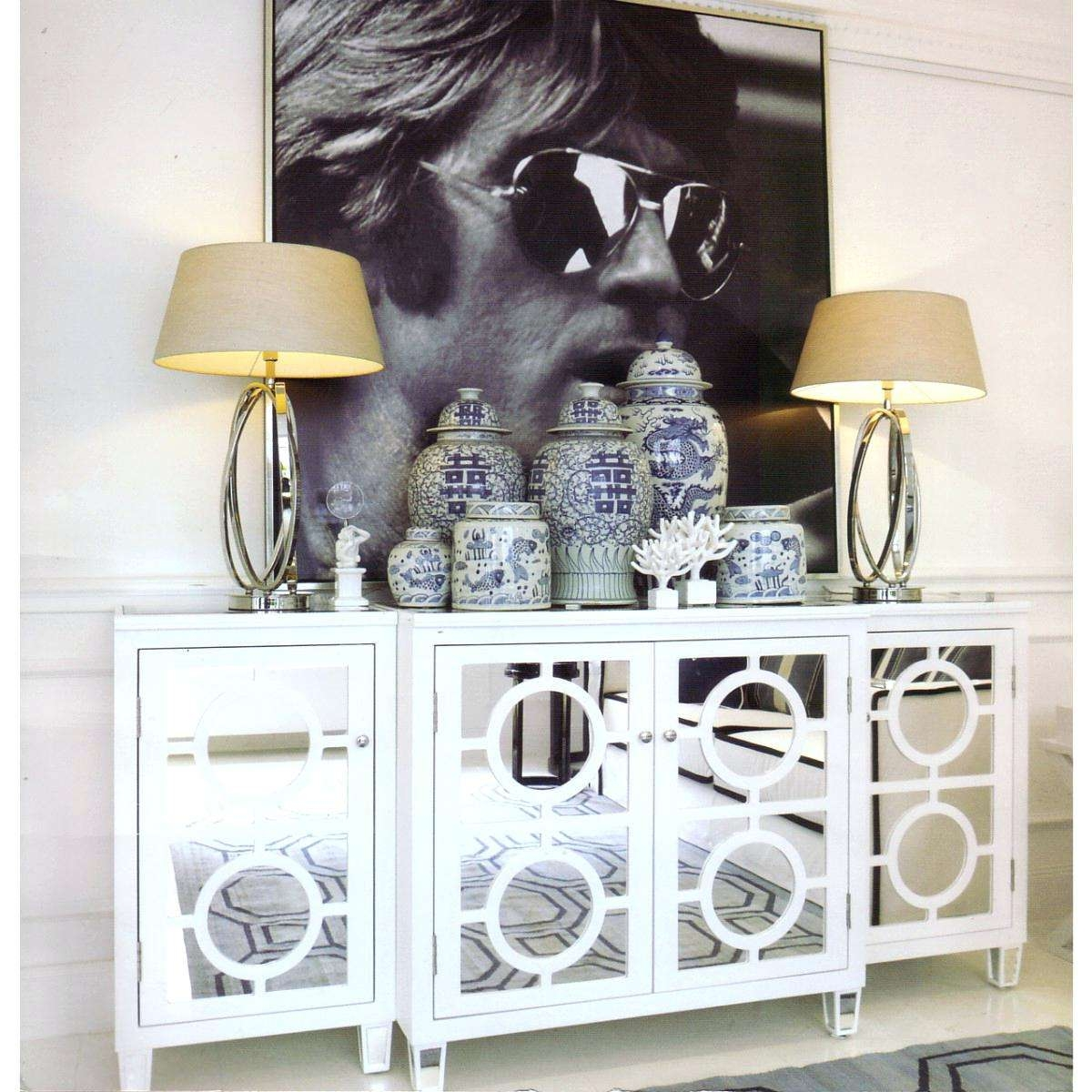 Sideboards: Glamorous White Mirrored Credenza Credenzas For Sale Inside White Mirrored Sideboards (View 17 of 20)