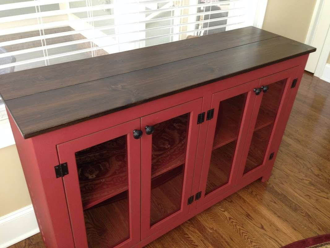 Sideboards Glass Door – Kountry Kupboards Throughout Sideboards With Glass Doors (View 13 of 20)