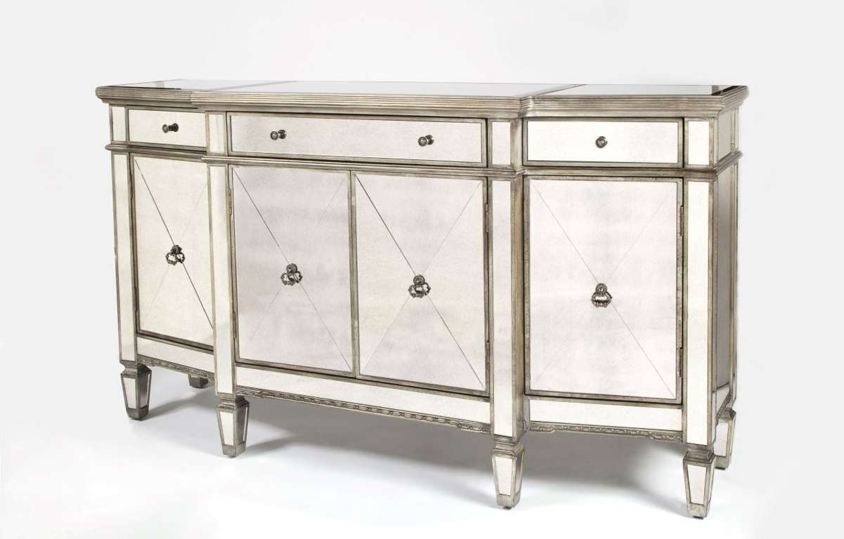 Sideboards: Inspiring Mirrored Buffet Console Table Mirrored For Small Mirrored Sideboards (View 18 of 20)