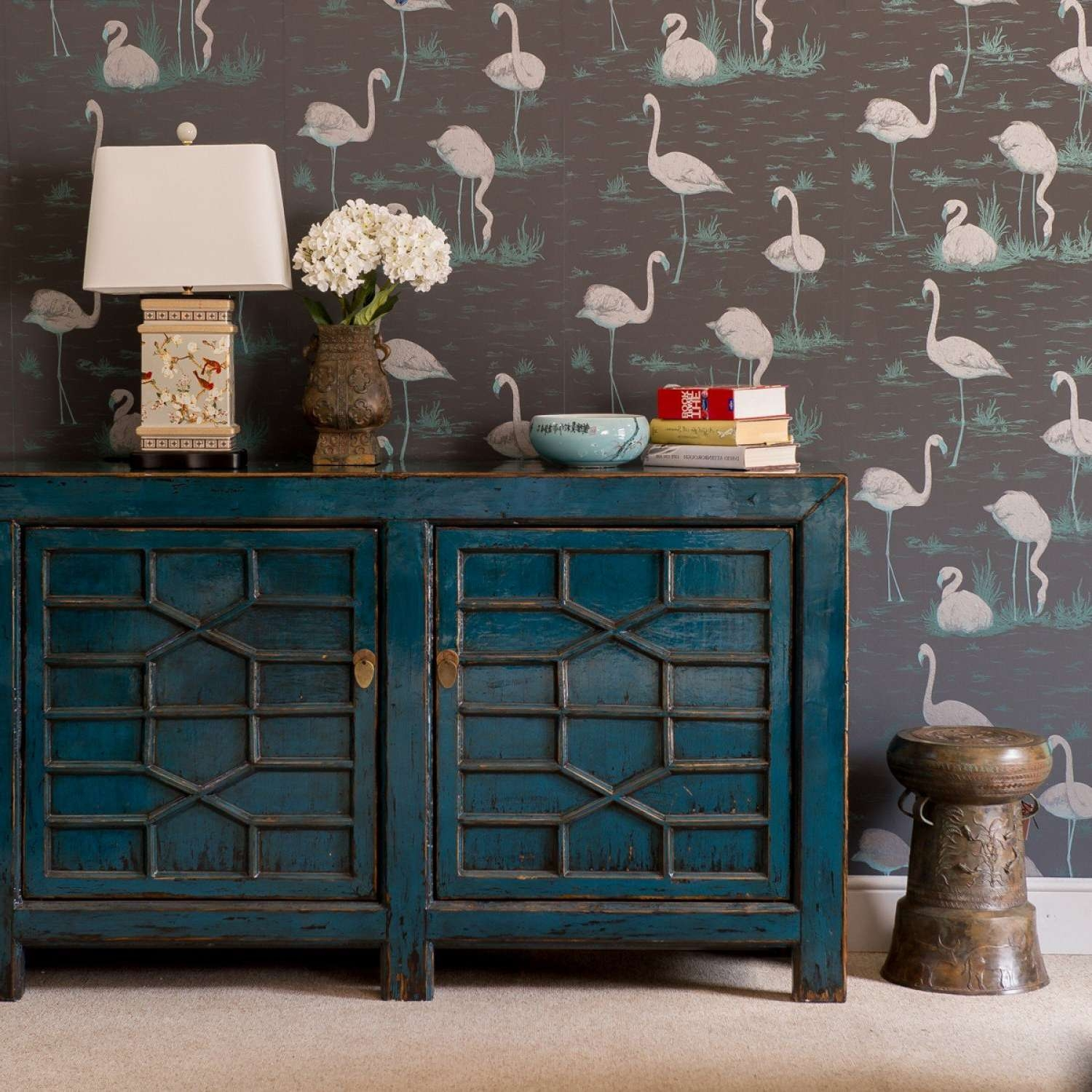 Sideboards: Inspiring Turquoise Sideboard Navy Blue Buffet, Blue Intended For Turquoise Sideboards (View 4 of 20)