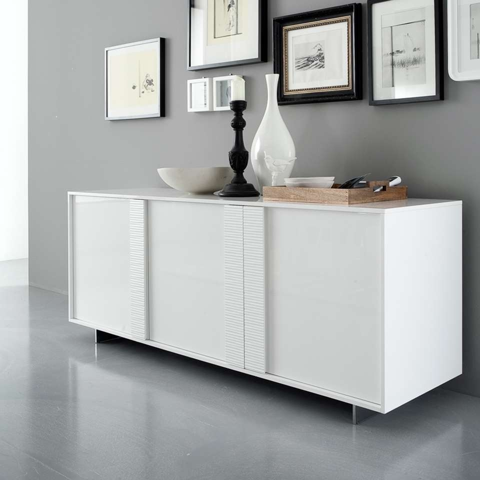 Sideboards: Interesting Modern White Buffet White Sideboards And Intended For Modern Buffet Sideboards (View 14 of 20)