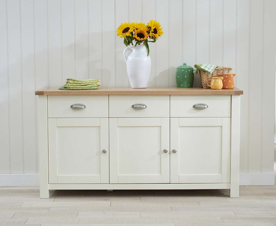 Sideboards | Living Room | Great Furniture Trading Company | The With Cream And Oak Sideboards (View 11 of 20)