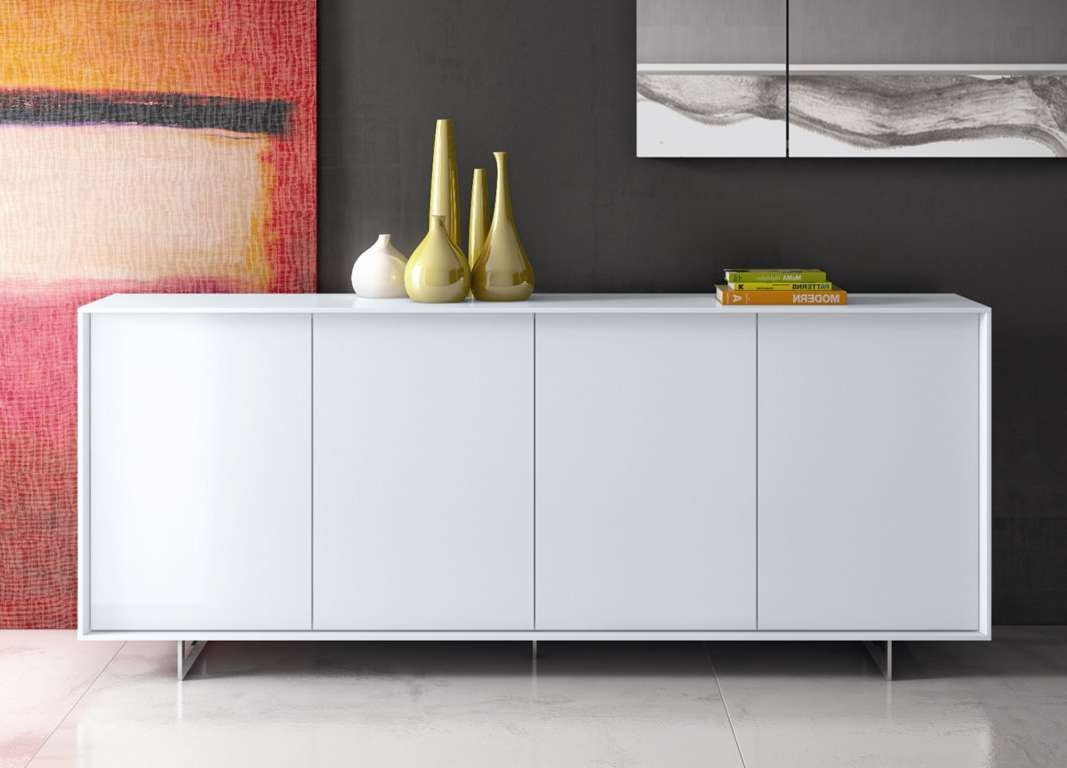 Sideboards: Stunning Modern Sideboards Modern White Sideboard With Regard To White Modern Sideboards (View 15 of 20)