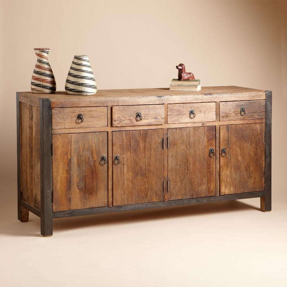 Sideboards: Stunning Wooden Sideboard Kitchen Buffet And Pertaining To Wood Sideboards (View 18 of 20)