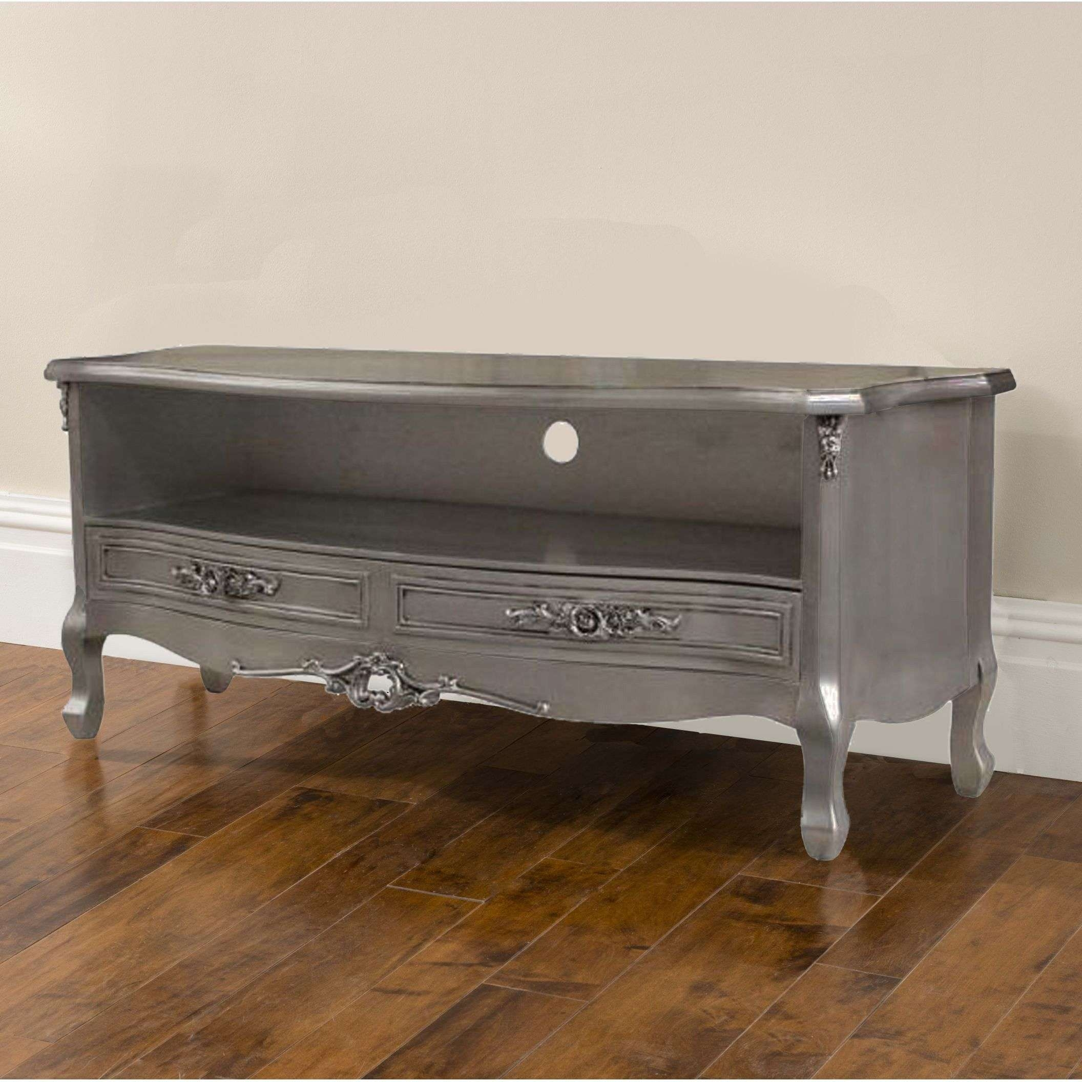 Silver Antique French Tv Cabinet Intended For French Style Tv Cabinets (View 17 of 20)