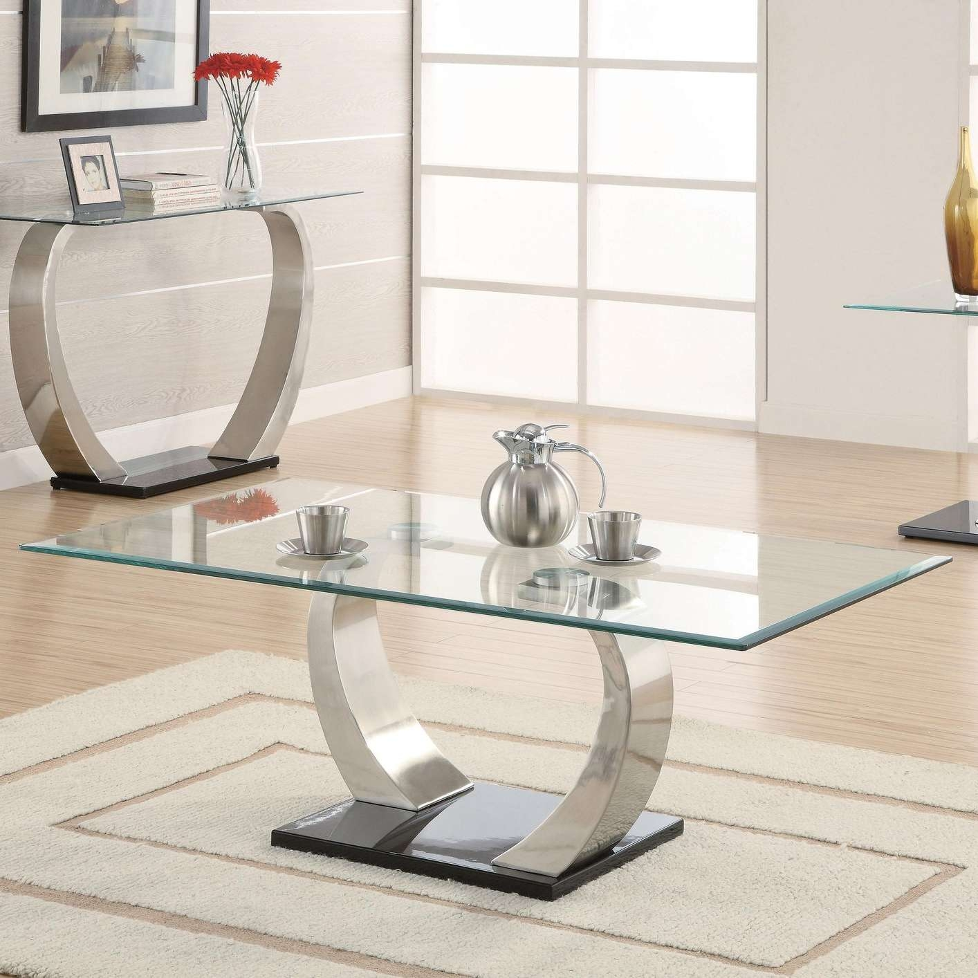 Silver Glass Coffee Table – Steal A Sofa Furniture Outlet Los Regarding Preferred Glass And Silver Coffee Tables (View 14 of 20)
