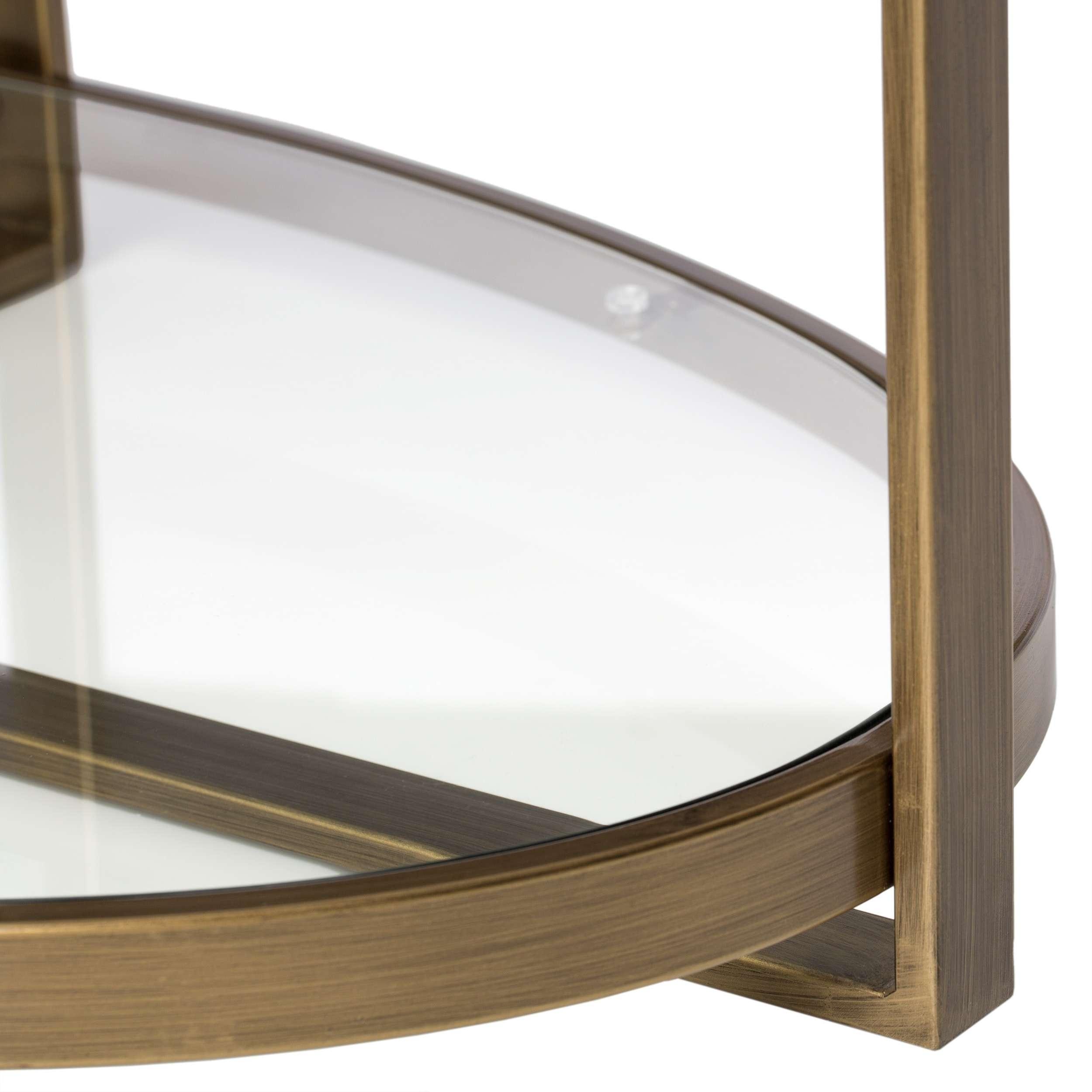 Silver Orchid Marcello Retro Glitz Glass/ Metal Coffee Table For Fashionable Retro Glitz Glass Coffee Tables (View 7 of 20)