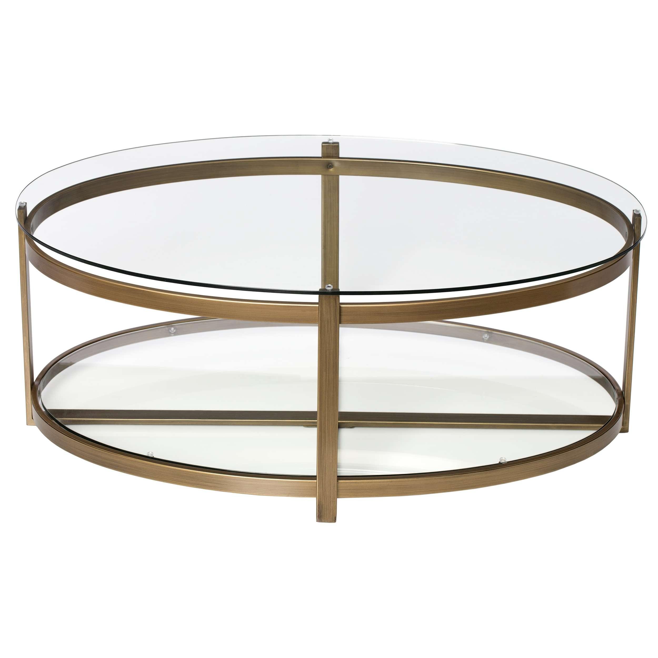 Silver Orchid Marcello Retro Glitz Glass/ Metal Coffee Table For Fashionable Retro Glitz Glass Coffee Tables (View 6 of 20)