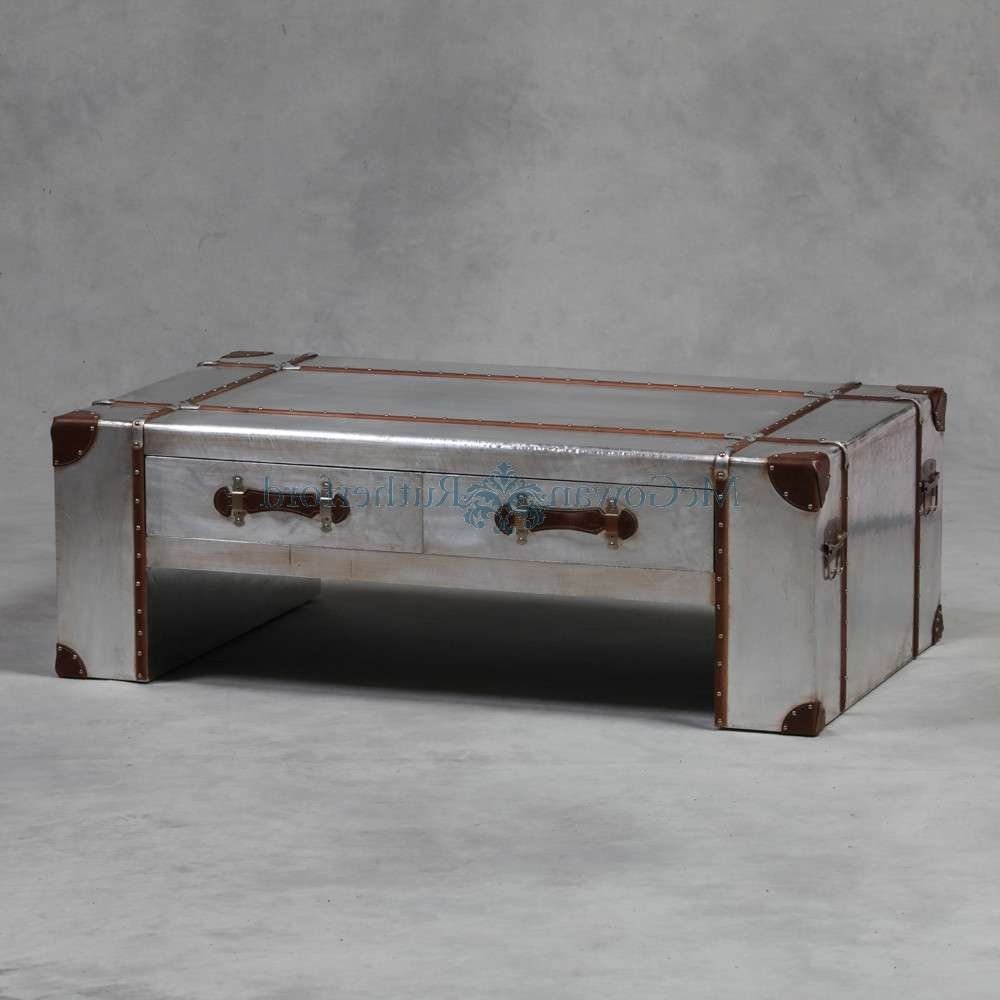 Silver Trunk Coffee Table, A Fully Functional Antique (View 17 of 20)