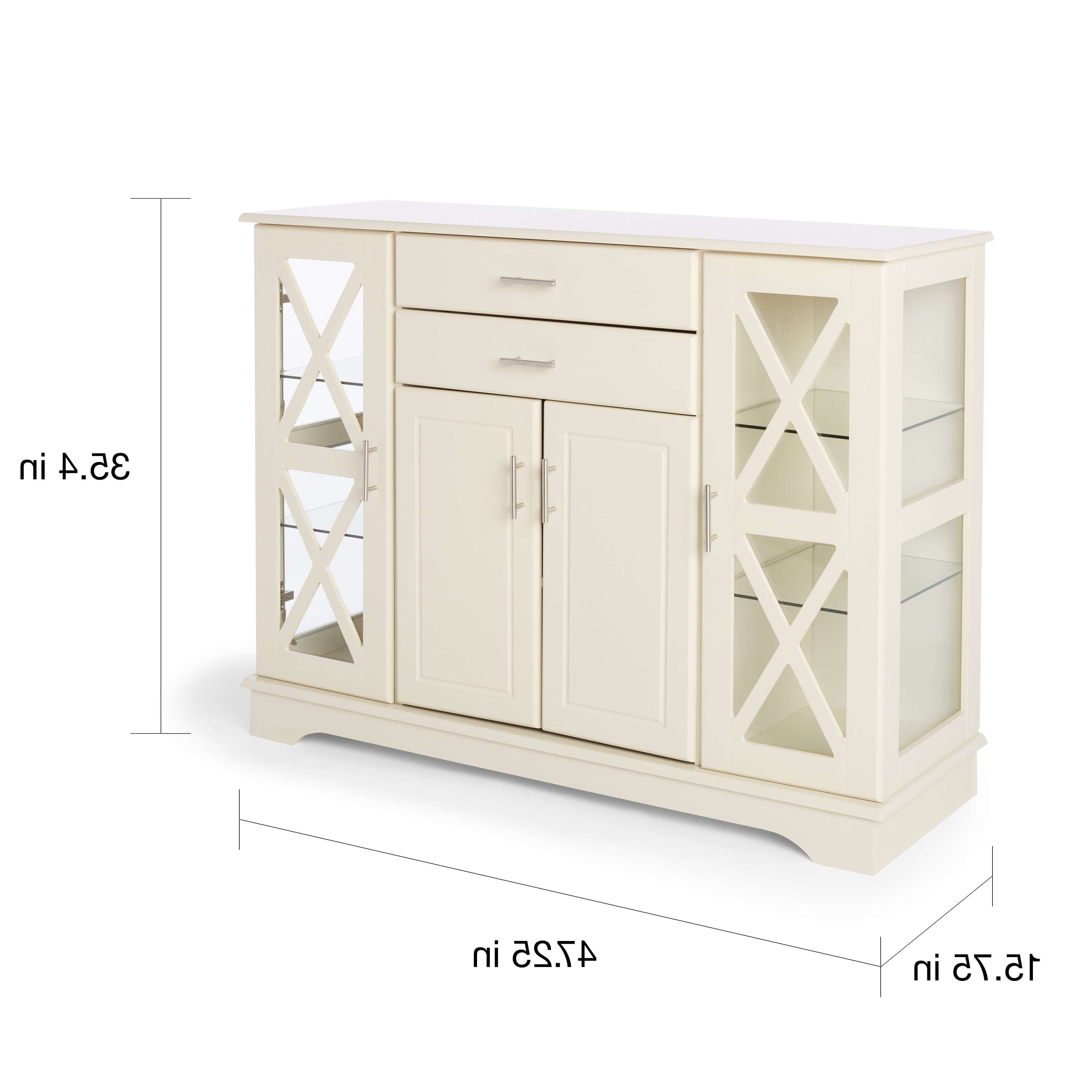 Simple Living Antique White Kendall Buffet – Free Shipping Today With Antique White Sideboards (View 7 of 20)
