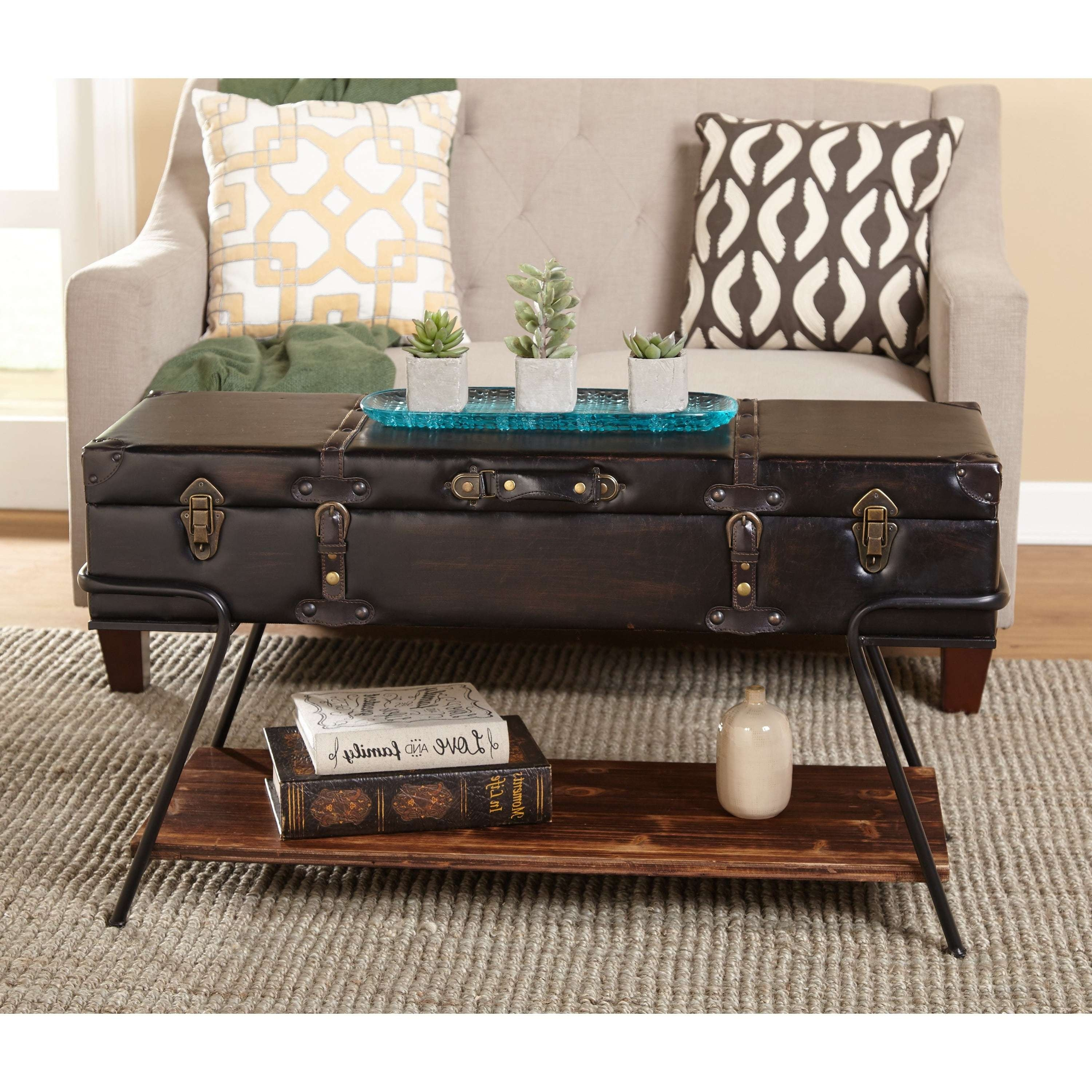 Simple Living Trunk Coffee Table – Free Shipping Today – Overstock Pertaining To Most Recently Released Steamer Trunk Stainless Steel Coffee Tables (View 19 of 20)