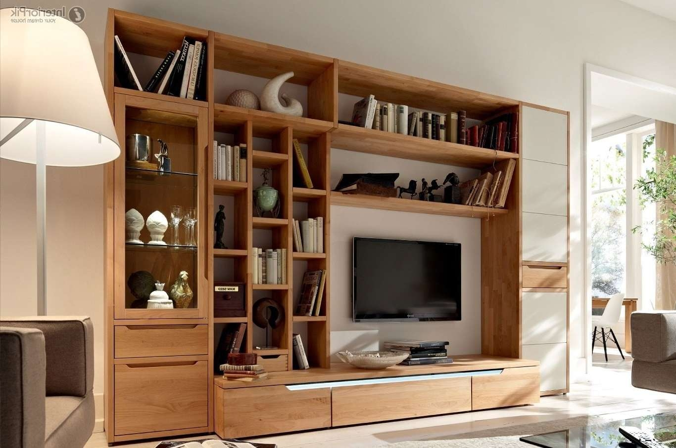 Simple Wooden Living Room Cabinets With Tv Livingroom Of Cupboards Regarding Living Room Tv Cabinets (View 15 of 20)