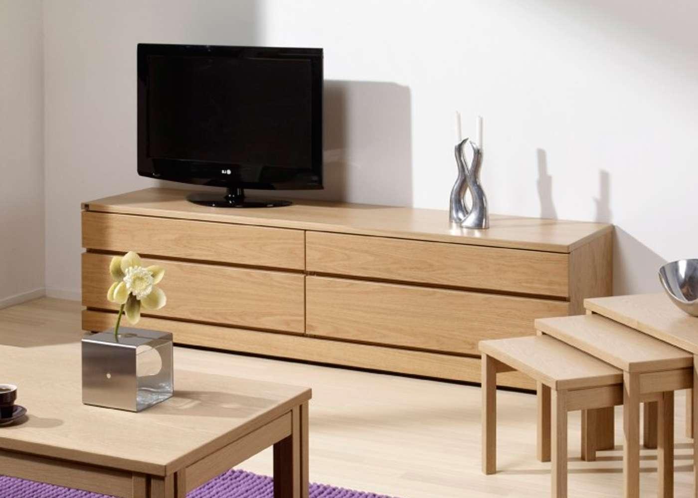 Skovby Sm87 Tv Cabinet In Light Oak Finish 1 – Midfurn Furniture In Light Oak Tv Cabinets (View 14 of 20)