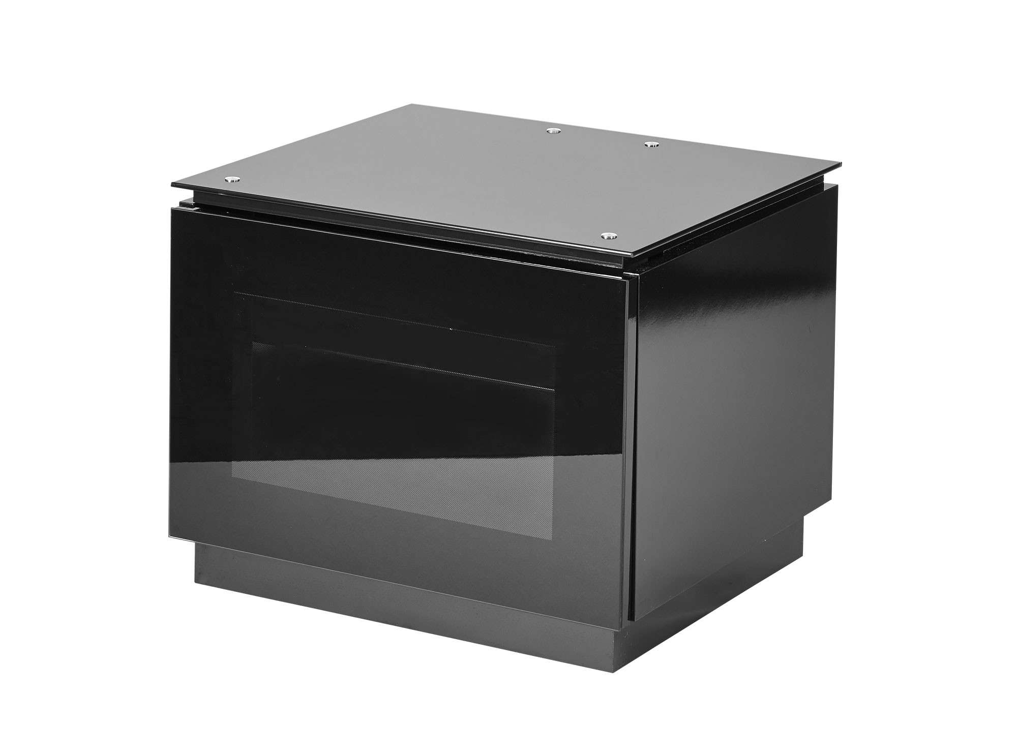 "Small Black Gloss Tv Cabinet For Up To 32"" Tv 