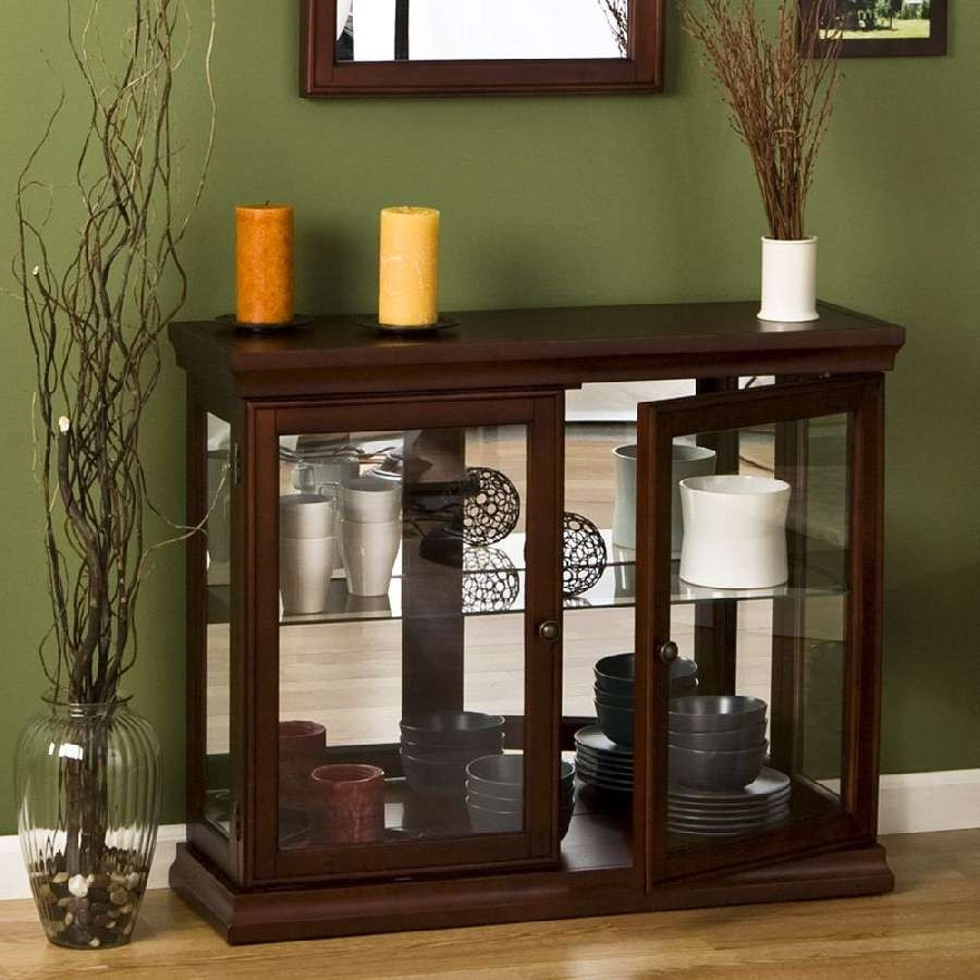 Small Buffet Cabinet With Glass Doors — New Decoration : Small Pertaining To Sideboards With Glass Doors (View 8 of 20)