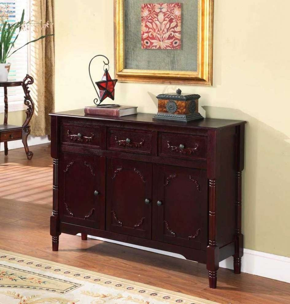 Small Dining Hutch Rustic Buffet Cabinet Server Narrow Kitchen Throughout Sideboards And Servers (View 20 of 20)