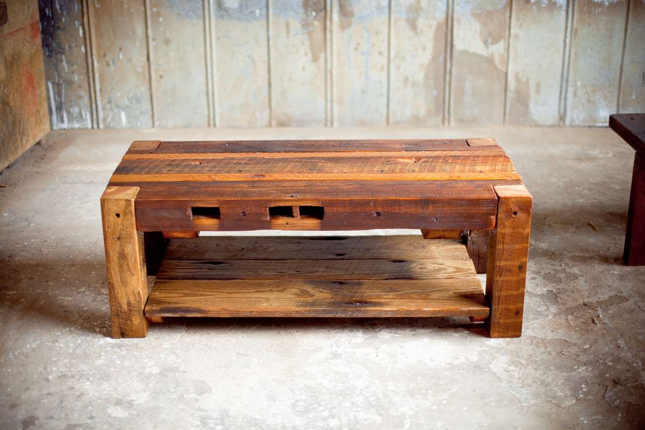 Small Reclaimed Wood Coffee Table — All Furniture : Unique Throughout Well Liked Reclaimed Wood Coffee Tables (View 18 of 20)