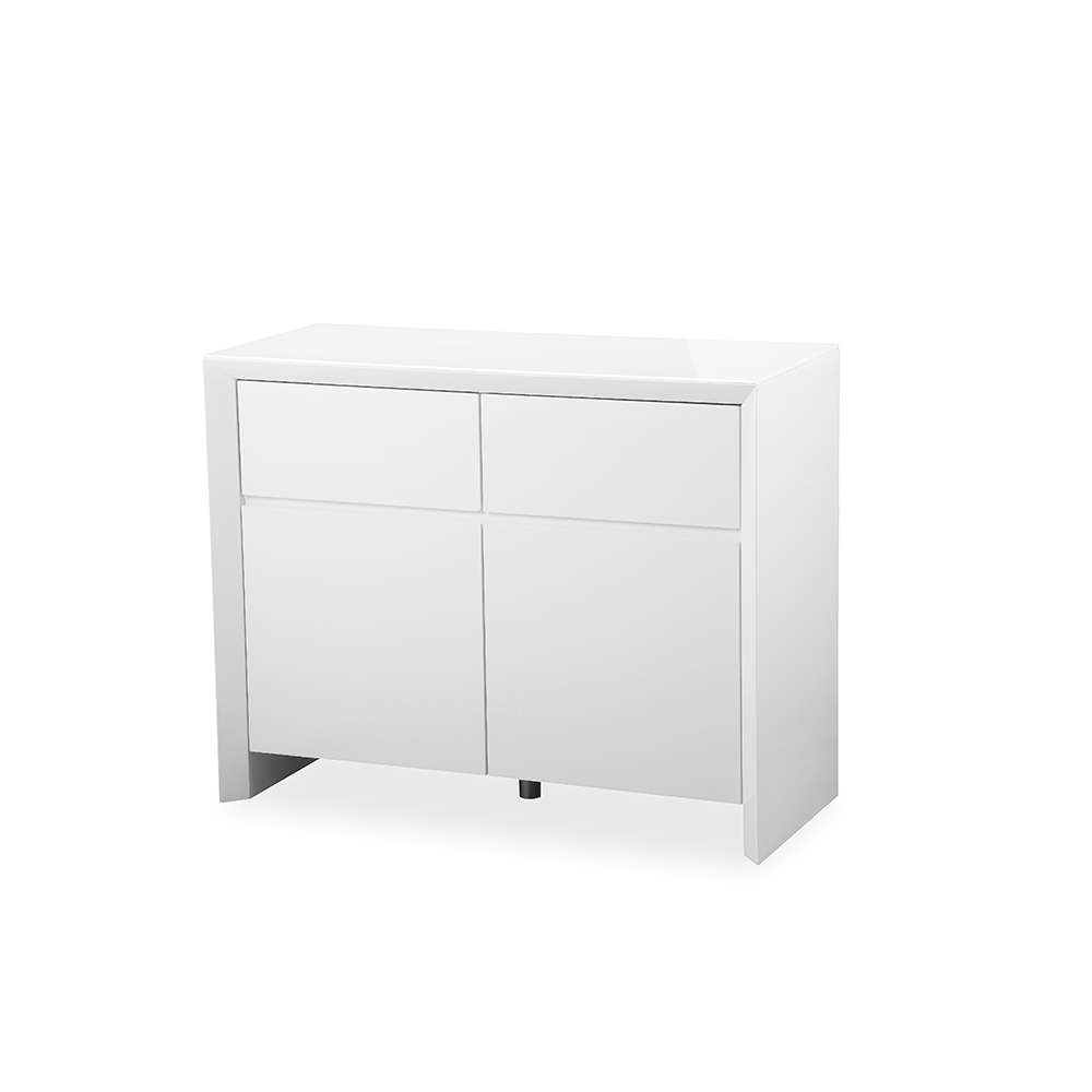 Soho White High Gloss Sideboard 100Cm – Gloss Furniture With Regard To High Gloss Sideboards (View 18 of 20)