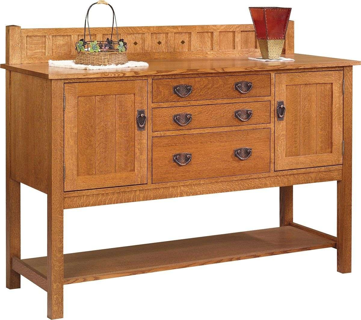 Solano Mission Style Sideboard – Countryside Amish Furniture Within Mission Style Sideboards (View 18 of 20)