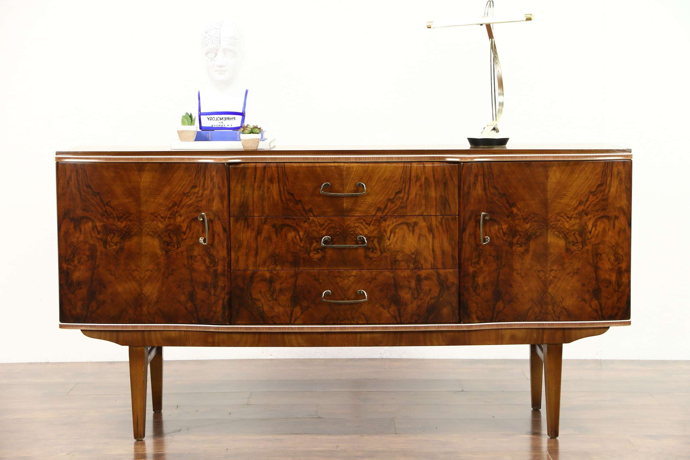 Sold – Art Deco 1940's Vintage Burl Sideboard, Server, Buffet Or Pertaining To Sideboards Bar Cabinet (View 3 of 20)