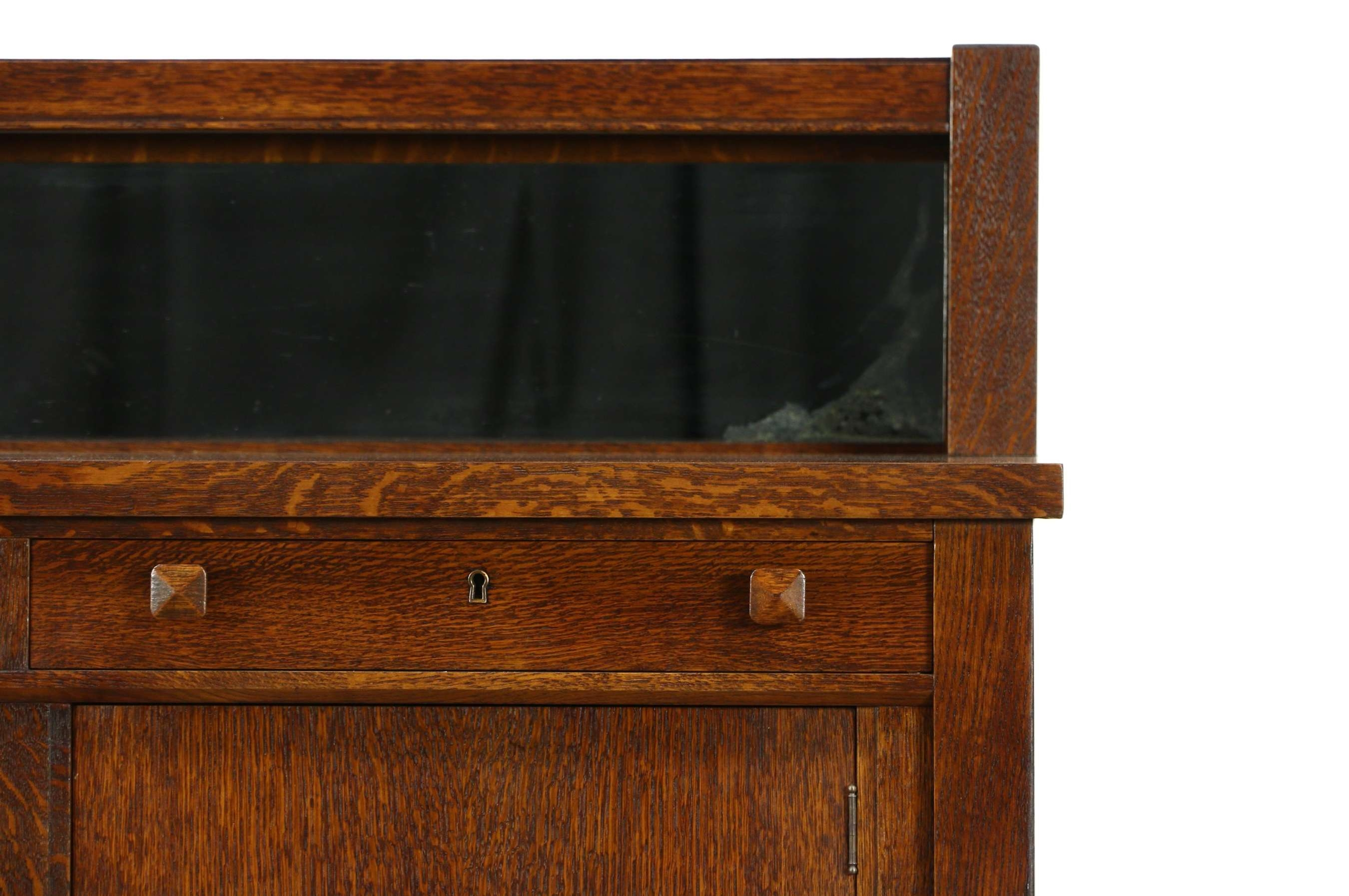 Sold – Arts & Crafts Mission Oak Antique Craftsman Sideboard Intended For Mission Sideboards (View 18 of 20)