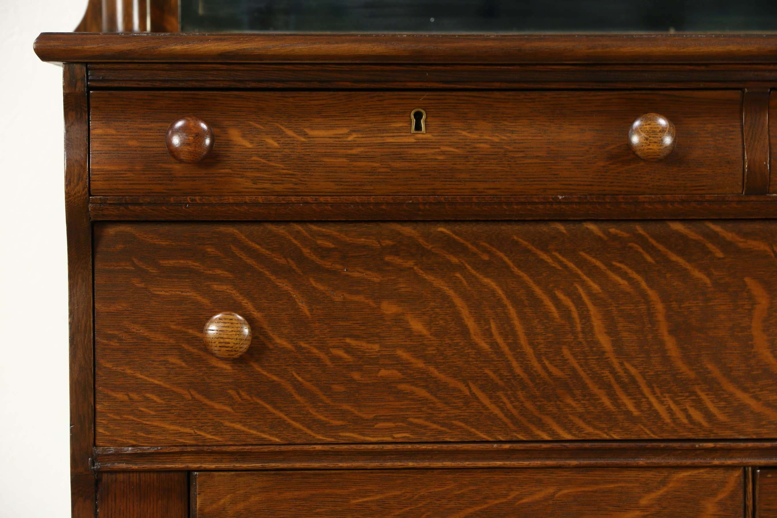 Sold – Empire 1910 Antique Oak Sideboard, Server Or Buffet, Lion Throughout Antique Oak Sideboards (View 13 of 20)