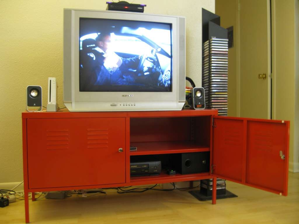Sold Ikea Ps Red Tv Stand (3/3) – $50 (Http://www (View 14 of 20)