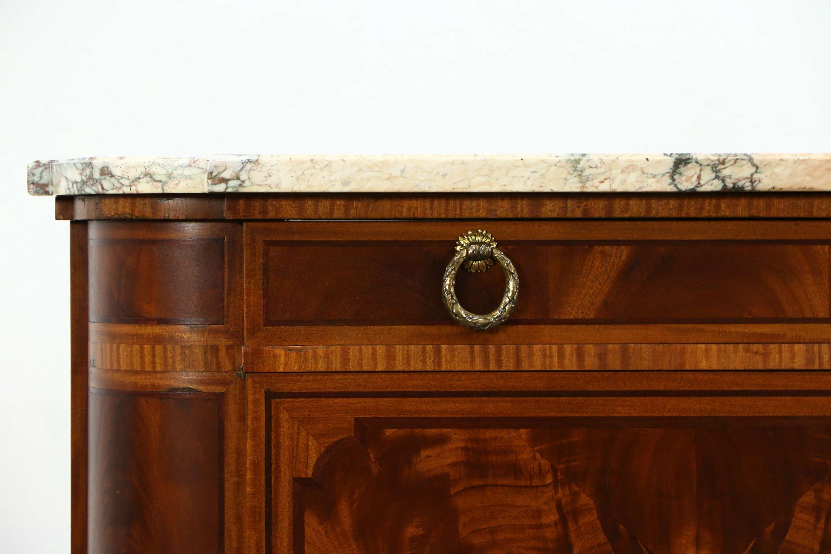 Sold – Marble Top Paris France Signed 1930 Vintage Sideboard In Vintage Sideboards And Buffets (View 14 of 20)