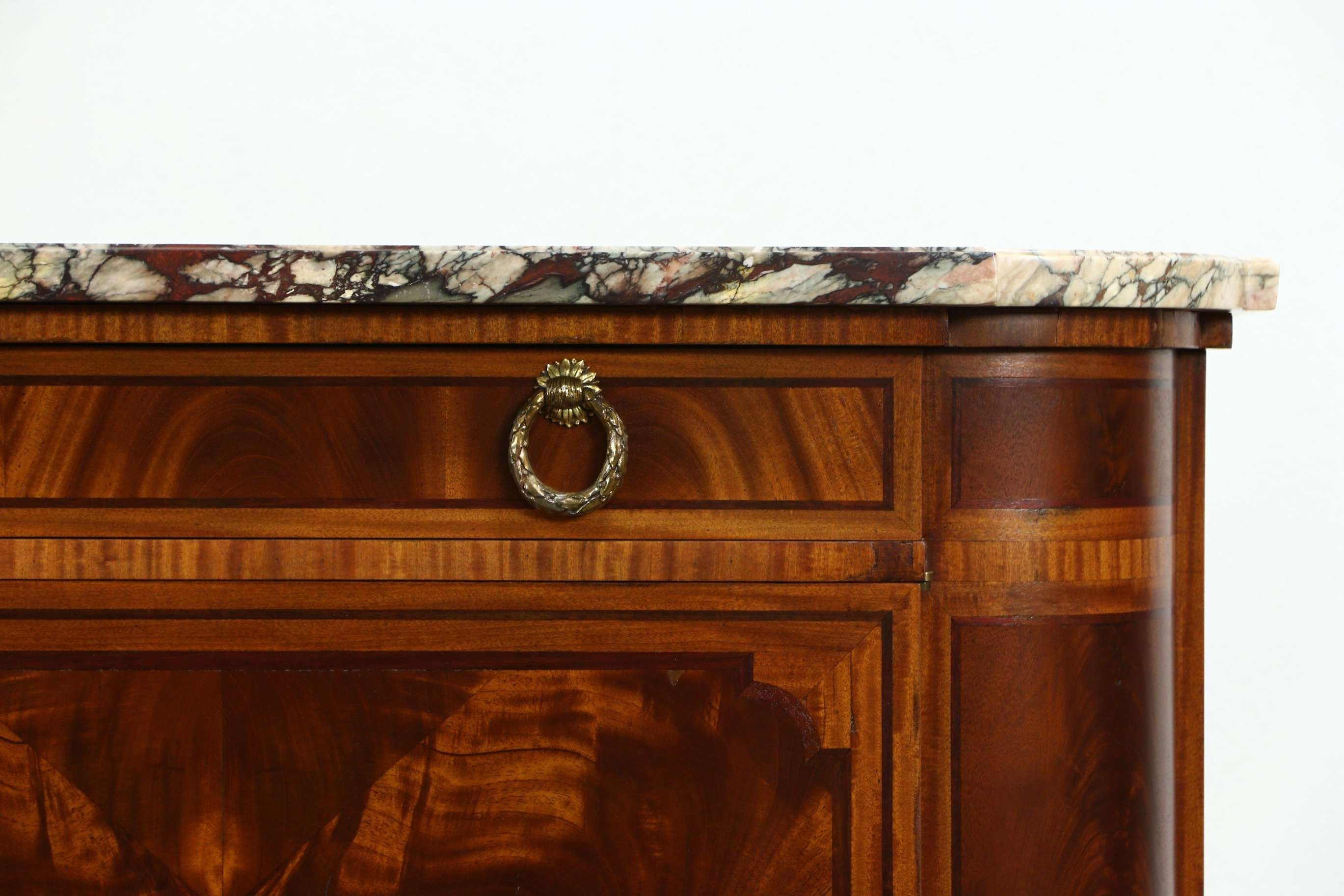 Sold – Marble Top Paris France Signed 1930 Vintage Sideboard Throughout Antique Marble Top Sideboards (View 6 of 20)